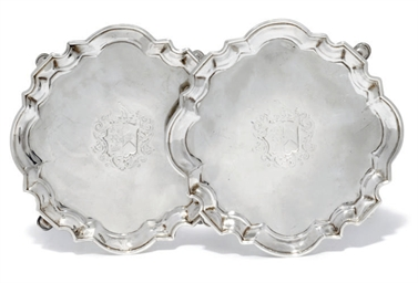 A PAIR OF GEORGE II SILVER SAL