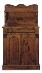 AN EARLY VICTORIAN ROSEWOOD CH