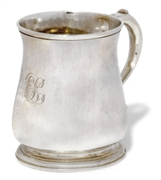 A GEORGE II SILVER CHILD'S MUG