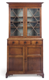 A LATE GEORGE III BOOKCASE CAB