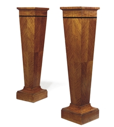 A PAIR OF SATINWOOD AND EBONIS