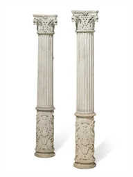 A PAIR OF FRENCH LIMESTONE GAR
