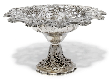 AN EARLY VICTORIAN SILVER TAZZ