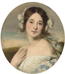 Portrait of a young girl in a