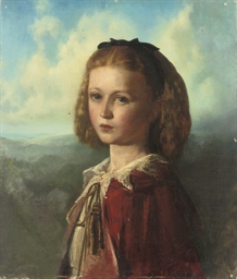 Portrait of a young girl, bust