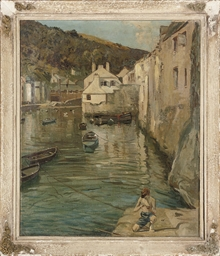 The harbour at Polperro, Cornw