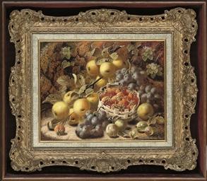 Greengages, grapes, strawberri