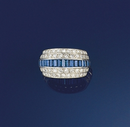 A sapphire and diamond triple