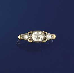 A George III rose-cut diamond