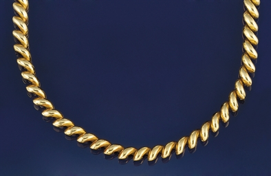 An 18ct. gold necklace