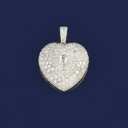 A diamond heart locket pendant