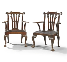 A PAIR OF IRISH GEORGE II SOLI