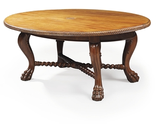 AN INDIAN SOLID ROSEWOOD CENTR