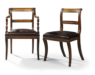 A SET OF ELEVEN REGENCY MAHOGA