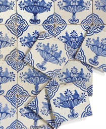 SIXTY-SIX DUTCH-DELFT BLUE AND