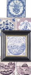 THREE DUTCH DELFT BIBLICAL TIL