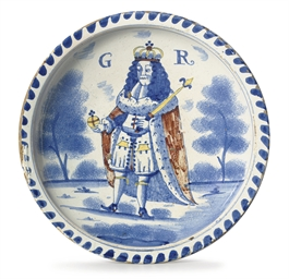 AN ENGLISH DELFT BLUE-DASH ROY