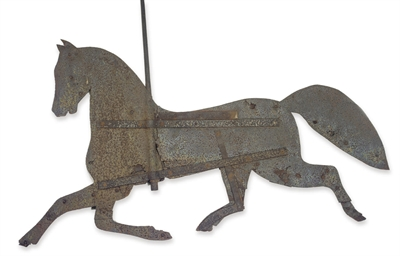 A Sheet-Iron Horse Weathervane