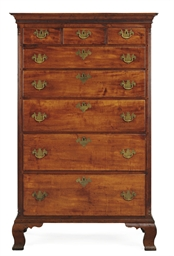 A Chippendale Maple Tall Chest