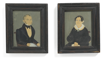 Pair of Miniature Portraits of