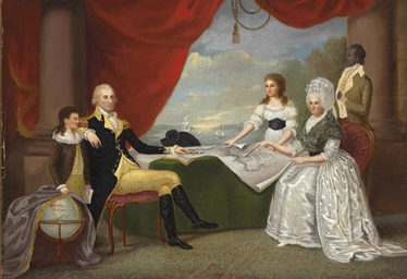 Washington and Family at Mt. V
