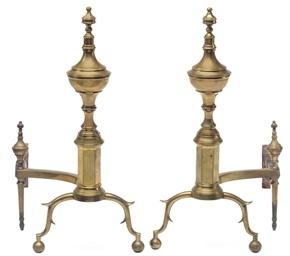 A Pair of Federal Brass Andiro