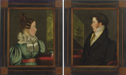 Pair of Portraits of a Lady an