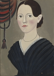 Portrait of a Woman with Black
