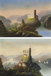 A Pair of Landscapes with Cast