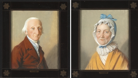 Pair of Portraits of Colonel a