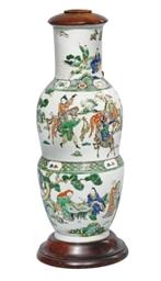 A CHINESE FAMILLE VERTE LAMP V