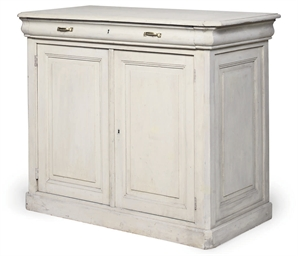 A FRENCH PAINTED PINE CABINET