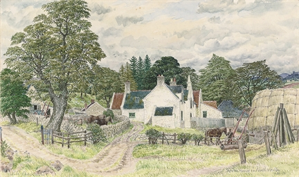 Farmhouse in the Forth Valley,