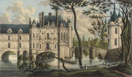 Six views of French chateaux,
