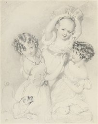 Three children playing with a