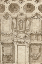 Design for a chapel wall and ceiling