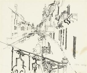 A view down a Venetian canal