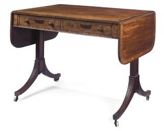 A GEORGE III MAHOGANY CROSSBAN