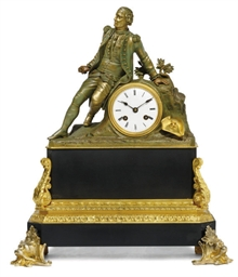 A CHARLES X BRONZED AND ORMOLU