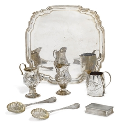 THREE GEORGE III SILVER CREAM