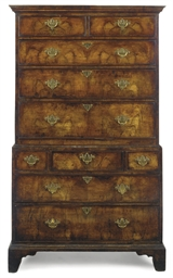 A GEORGE I WALNUT TALLBOY