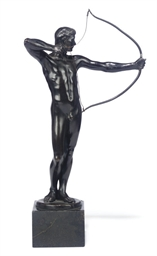 A GERMAN BRONZE FIGURE OF AN A