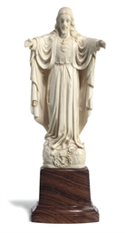 AN INDIAN IVORY FIGURE OF CHRI