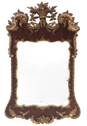 A PARCEL GILT AND MAHOGANY MIR