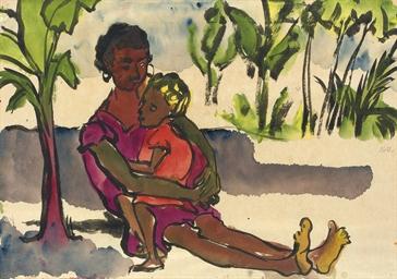 Mutter und Kind in der Südsee