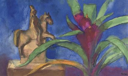 Blühende Billbergia und Reiter