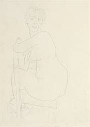 Femme nue assise (recto & vers