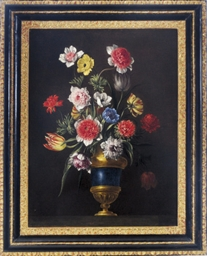 Still life with tulips and ane