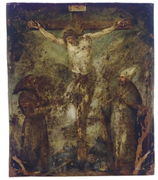 The Crucifixion (recto); and M
