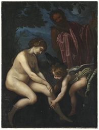 Venus, Cupid and Pan